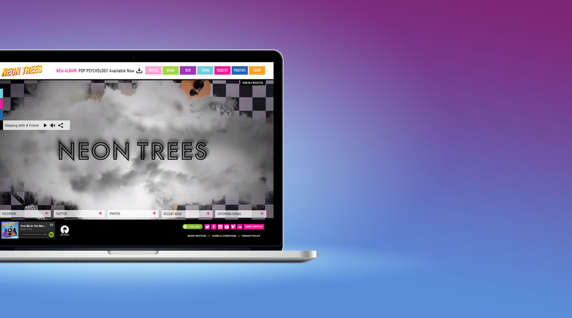 Designed and Developed Neon Tree's Official Site